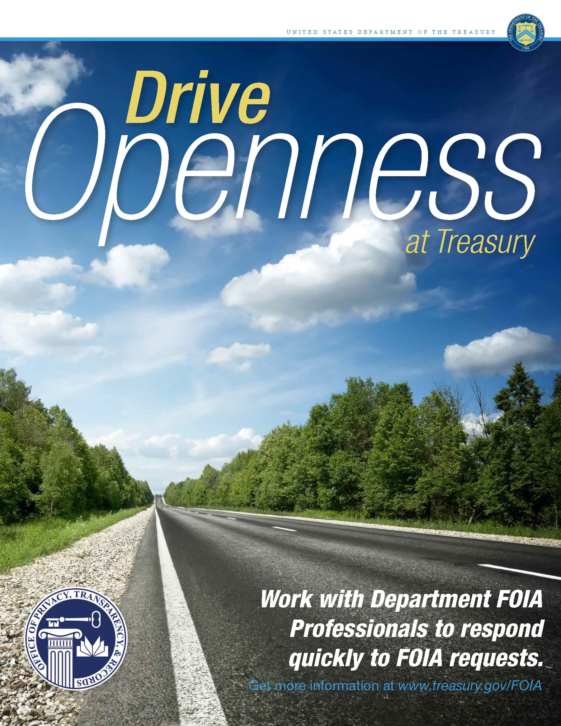 Treasury introduced an inspiring new internal marketing campaign for its FOIA program during Sunshine Week. We love it!
